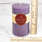 Spring Crocus Round Pillar Beeswax Candles
