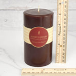 Dark Brown Round Pillar Beeswax Candles