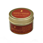 Pure and Natural beeswax candle in a gold travel tin.