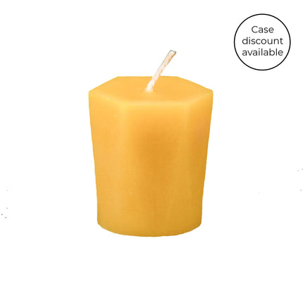 2 Inch Natural Hexagonal Votive Beeswax Candles