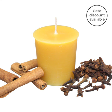 Essential Votive Mulled Spice Beeswax Candle