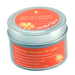 Mulled Spice essential oil 100% beeswax candle in metal tin