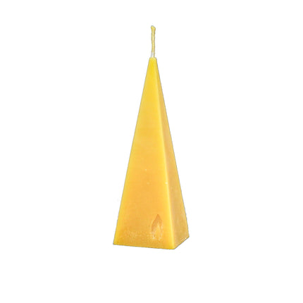 pyramid candle made from pure beeswax