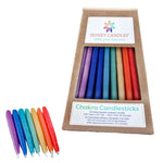 brightly colored 42 beeswax Chakra candles