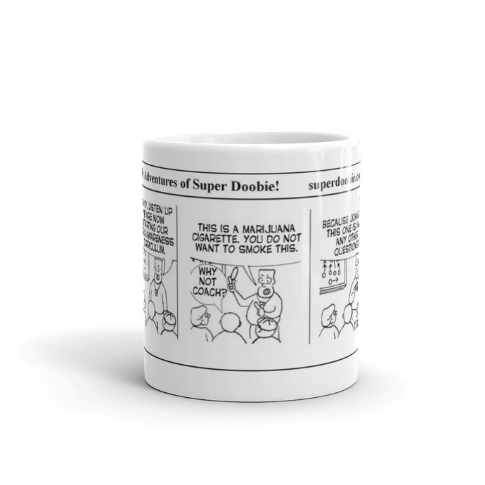 A favorite Super Doobie comic now on your favorite mug! Comic 0005