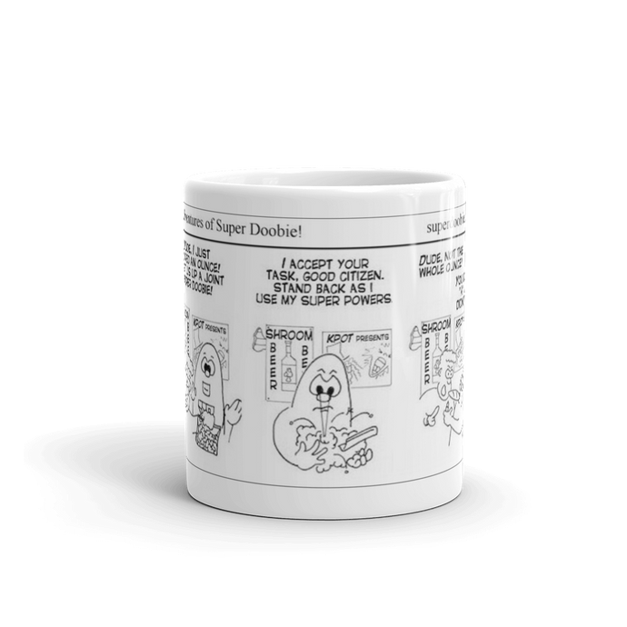 A favorite Super Doobie comic now on your favorite mug - Comic 0001