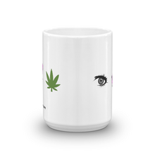 Load image into Gallery viewer, Eye Smoke Weed Coffee Mug - Official Super Doobie Merchandise