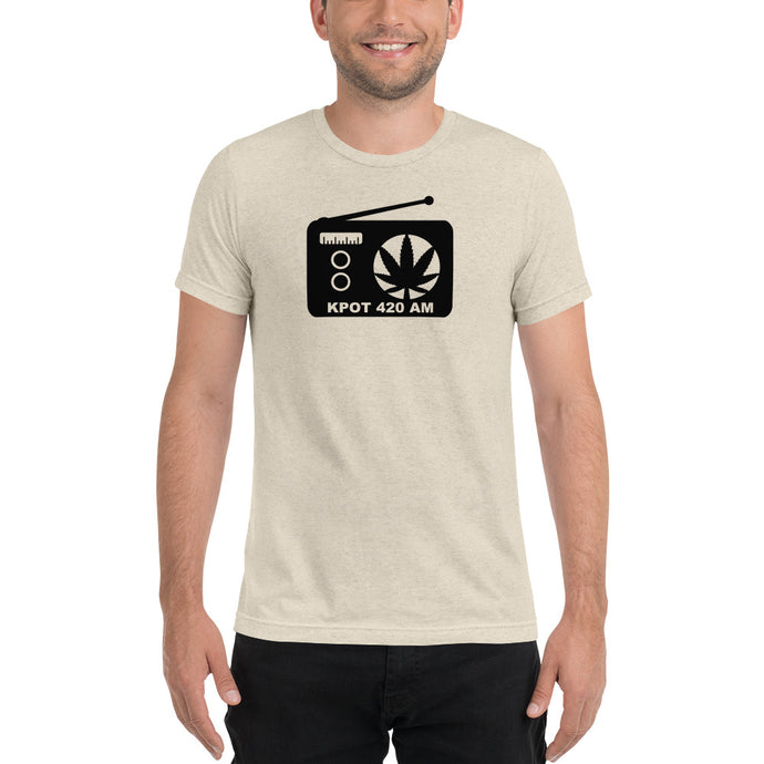 KPOT 420 AM Short sleeve t-shirt - Support your local radio station with this one of a kind logo shirt