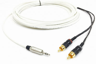75ft 3.5MM to 2 RCA Plenum CL3P Stereo Audio Cable Male to Male