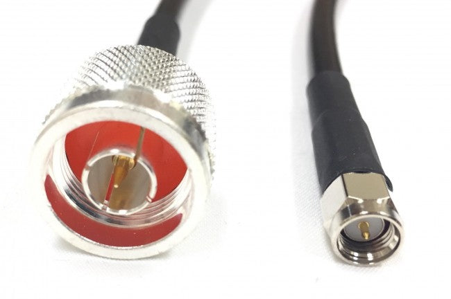 N Male to SMA Male Times Microwave Cable LMR240 Ultraflex