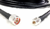 N Male to N Female Extension - Times Microwave LMR-400 Cables 75ft Black