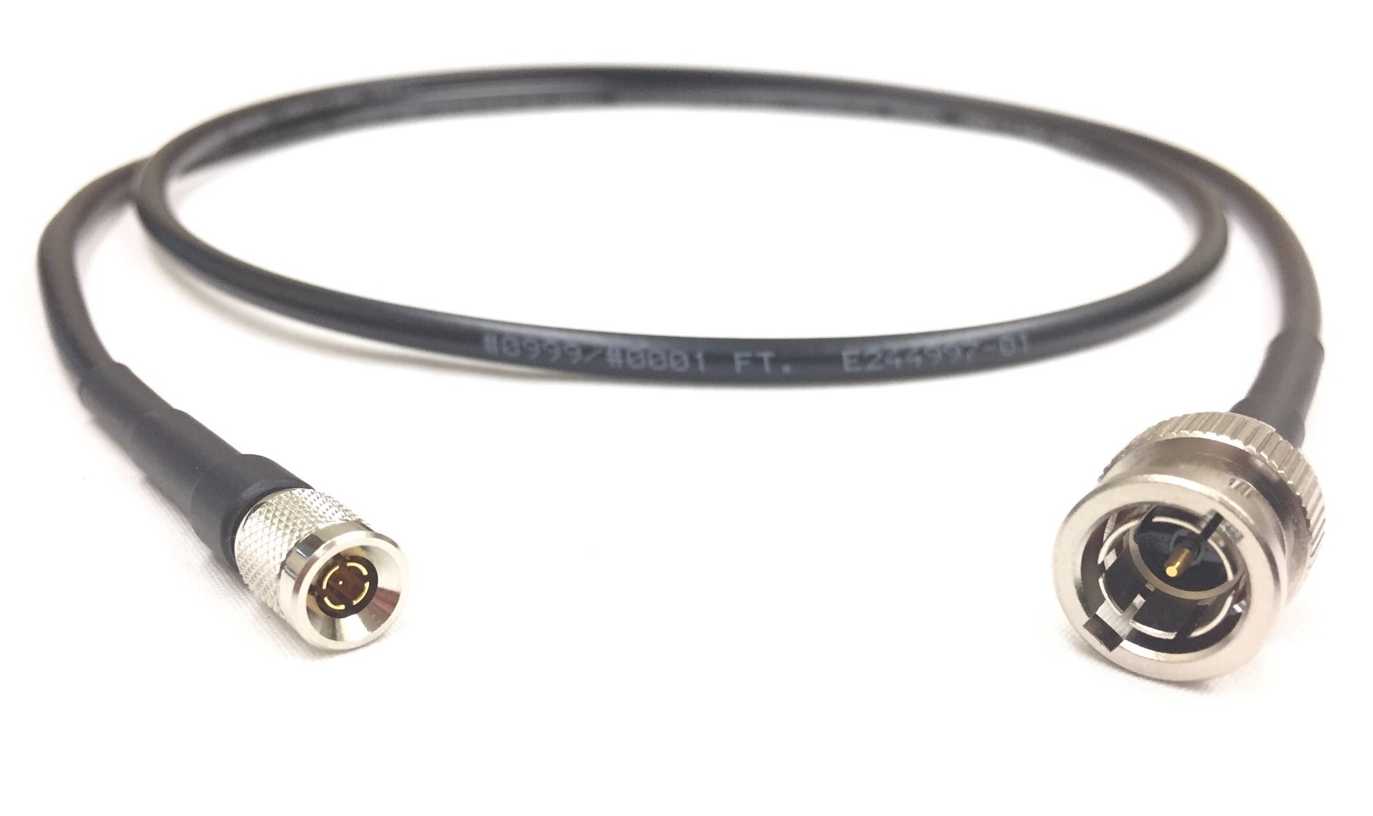 75 ohm US MADE  Dual   DS3  735A   BNC  male to  BNC  male Coax cable  35 FT