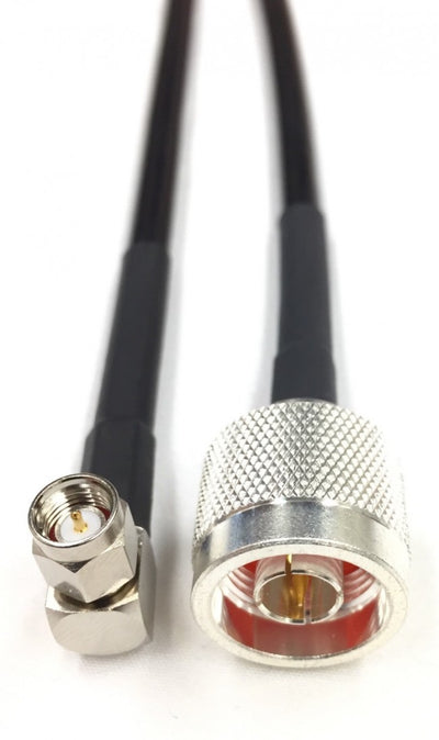 75ft N Male to SMA Right Angle Times Microwave LMR240U Cable