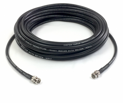 75ft Belden 1694A 3G/6G HD-SDI RG6 BNC Cable Black