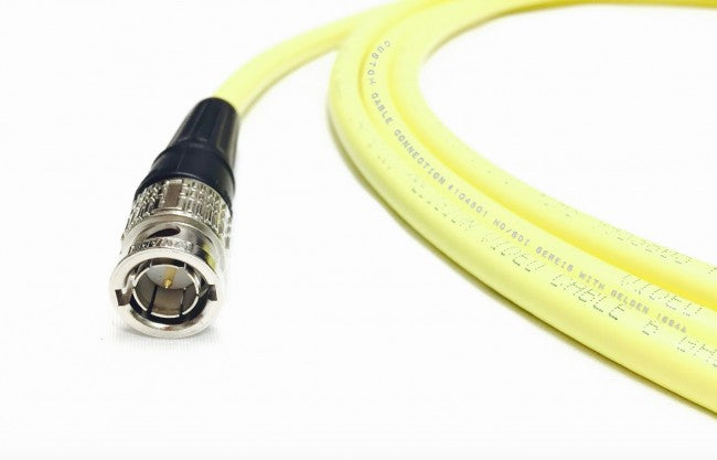 20 Foot Belden 1694A HD-SDI 75ohm RG6 BNC Female to Male Black Extension Cable by Custom Cable Connection