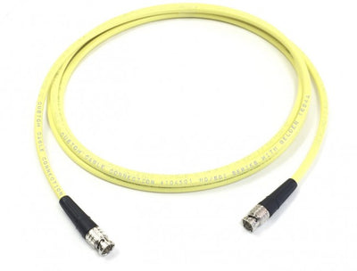 75ft Belden 1694A 3G/6G HD-SDI RG6 BNC Cable Yellow with Canare BCP-B53 BNC