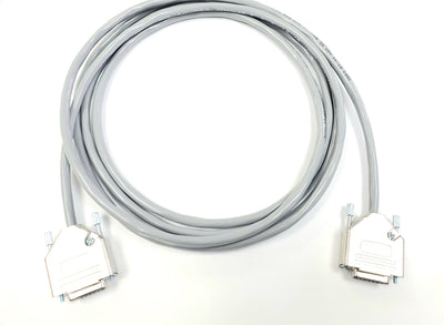 DB15 Female to Female All 15 Wires Connected 24 AWG - PVC Jacket - Gray