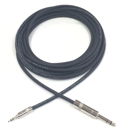 3.5mm Stereo to 1/4 inch TRS Stereo Balanced Cable for Stage