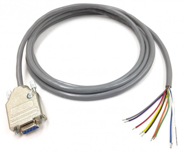 3 foot DB9 Female to Blunt RS-232 Serial Breakout Cable