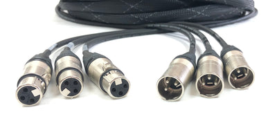 3 Channel XLR Audio Male to Female all in one Jacket - Snake Cable