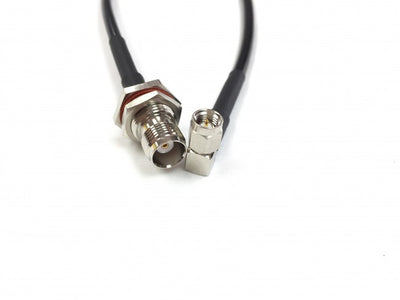 SMA Male Right Angle to TNC Female Bulkhead LMR-195 Extension Cable - 15 Foot