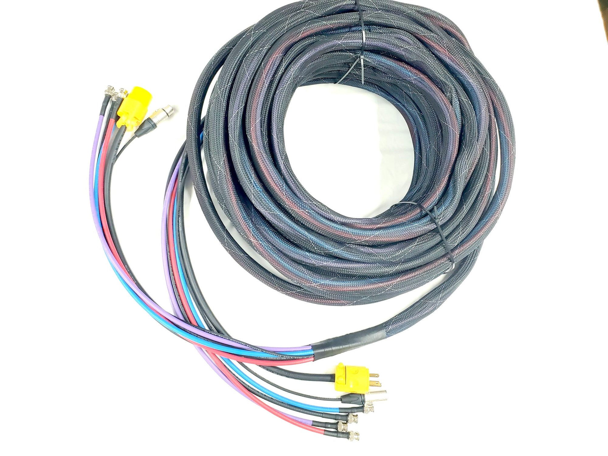 4 Channel BNC HD-SDI RG6 Belden 1694A, XLR Line Level and AC Power - Snake Cable