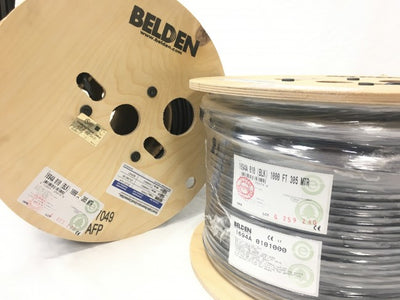 Belden 1694A RG-6/U Coaxial Cable for Audio and Video 18AWG, 75 Ohm, 6GHz Black - 1000ft - USA