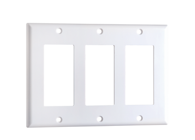 White Decorator Style Cover Plates - 1 Gang, 2 Gang, 3 Gang