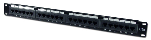 24 Port Cat5e Patch Panel 110 Block 568A & 568B Compatible