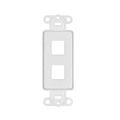 White Keystone Decorator Style Wall Plates - 1 Port, 2 Port, 3 Port, 4 Port and 6 Port