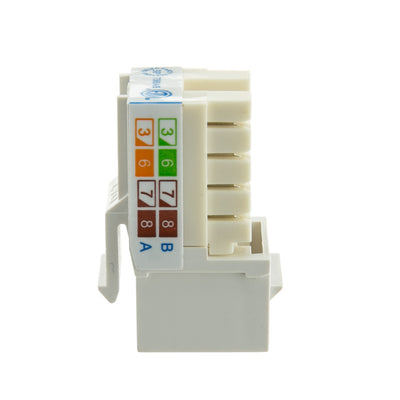 CAT5E Data Grade Keystone Jack 8x8- White - Qty 1