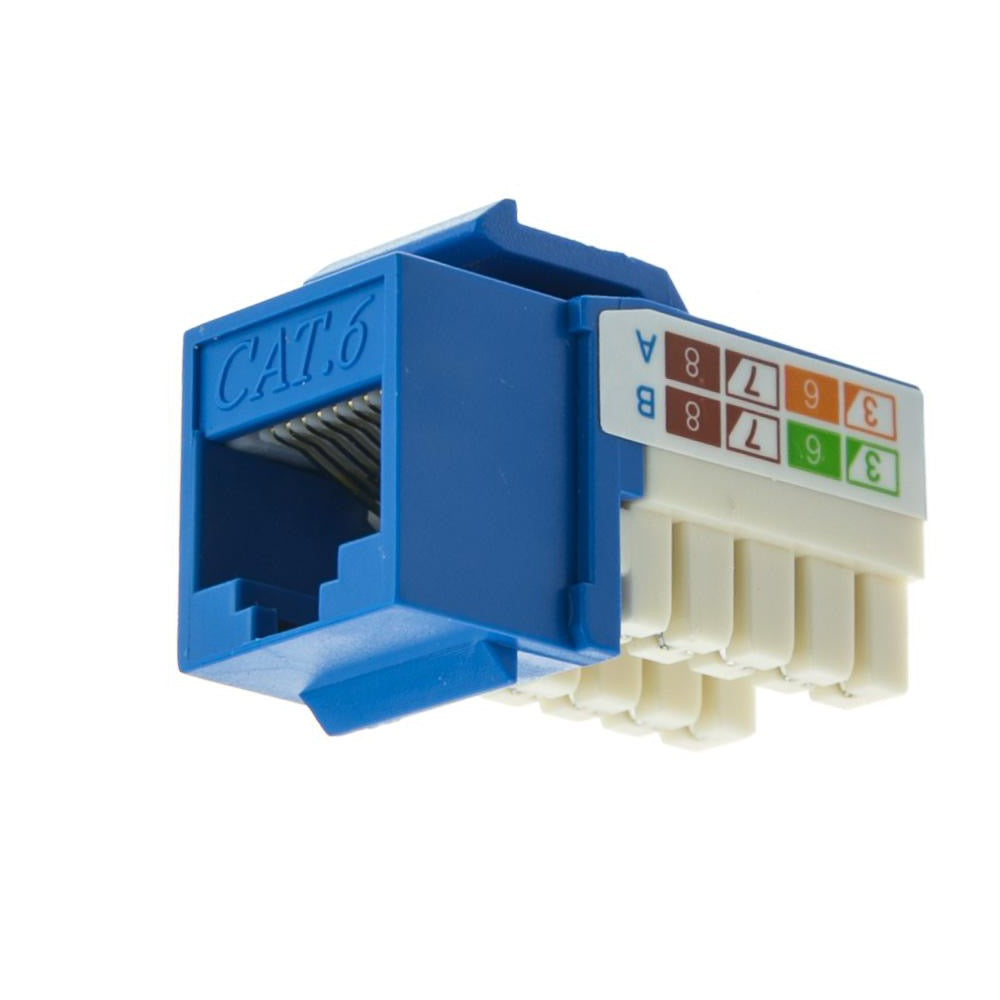CAT6Data Grade Keystone Jack 8x8- Blue - Qty 1