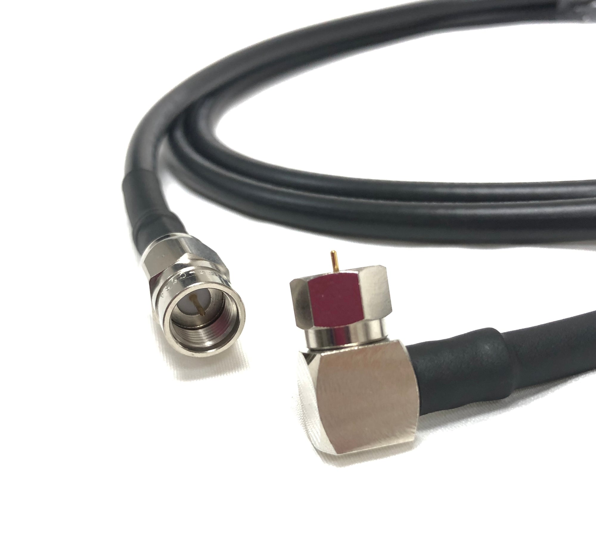 F-Type Male to Male Right Angle Belden 1694A RG6 Broadcast 4K Satellite Coaxial CL2 Cables
