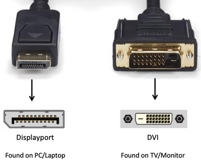 DisplayPort to DVI Video Cable Male to Male