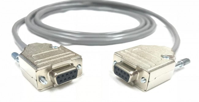 Null Modem DB9 Female to Female -  24 AWG PVC Jacket - Serial Data Cable