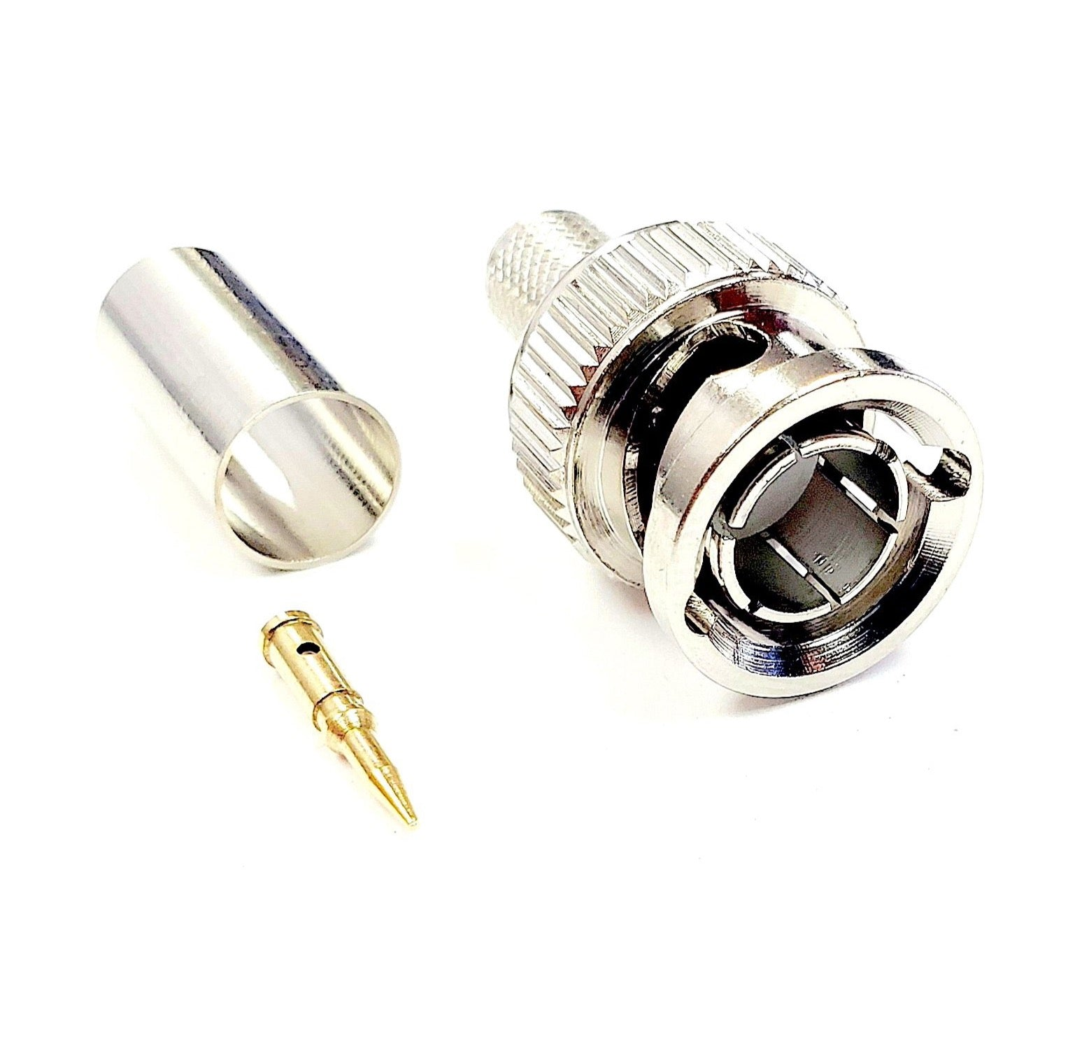 BNC Crimp Connector for Belden 1694A - 6 GHz - 75 Ohm