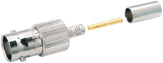 BNC Jack 75 Ohm, Straight, Crimp for RG6, Belden 1694A