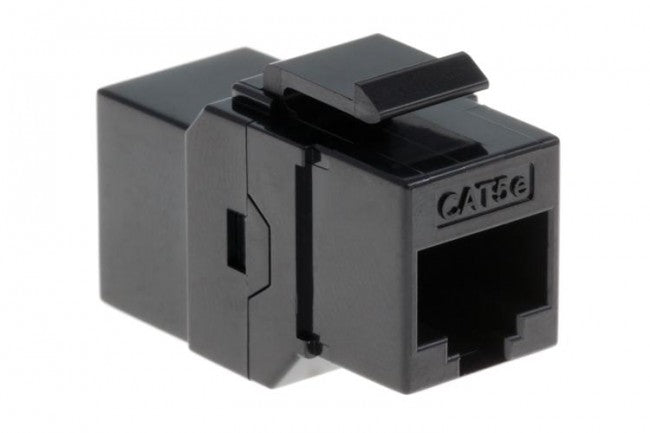 10 Pack Cat5e Coupler Keystone Jack/Jack Black