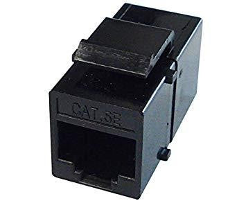 Cat5e Coupler Keystone Jack/Jack Black