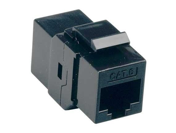 Cat6 Coupler Keystone Jack/Jack Black