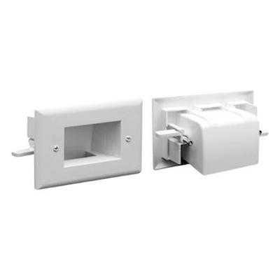 DataComm 45-0008-WH 2-Gang Easy Mount Recessed Low Voltage Plate White
