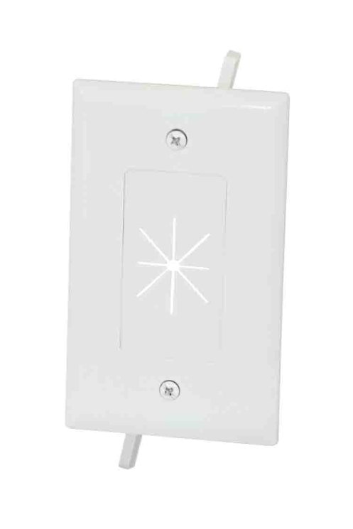 DataComm 45-0014-WH Wall Plate 1 Gang Flexible Opening White