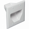 Datacomm 45-0002-WH 2 Gang Recessed Low Voltage Cable Plate, White