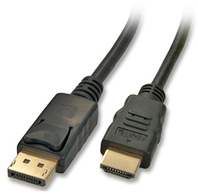 DisplayPort to HDMI Video Cable Male to Male 6ft