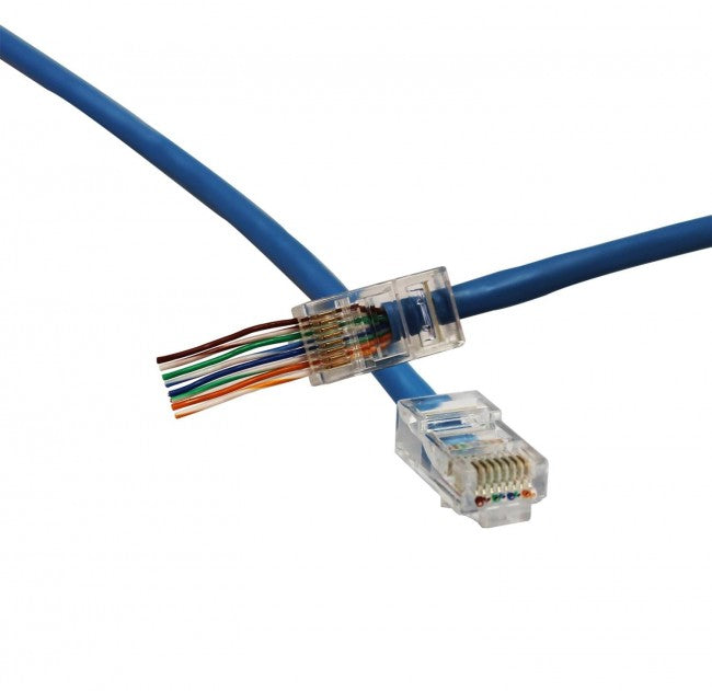 Eclipse 902-550-100 QuikThru Cat6 RJ45 100 Pack