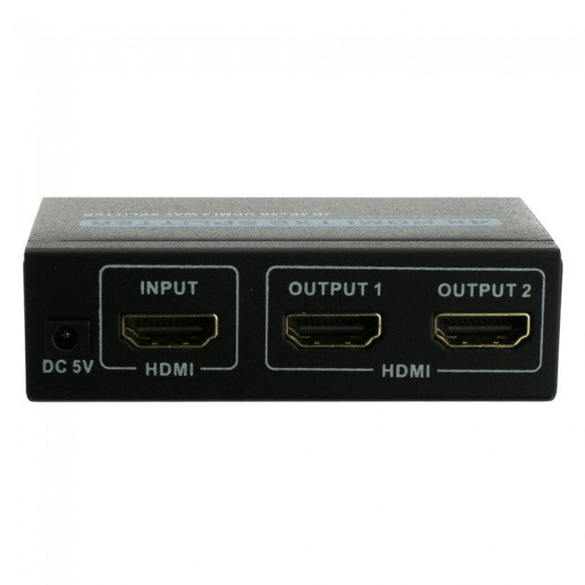 HDMI 1x2 Splitter 4K, 1 HDMI Female Input x 2 HDMI Female Output