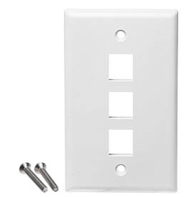 Keystone Wall Plate - 1 Port - White