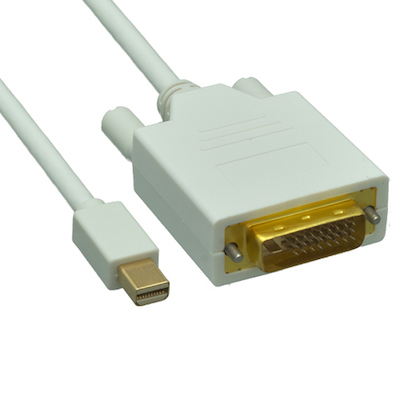 Mini DisplayPort to DVI Video Cable  6ft