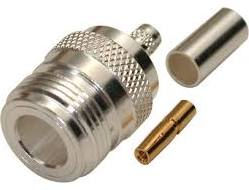 N Female Crimp Connector LMR-240, RG8/X, Belden 9258
