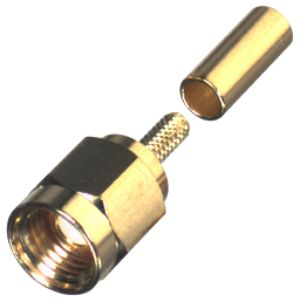 SMA Male Crimp Connector fits LMR100 / RG174